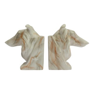 Plaster Collie Bookends - a Pair For Sale