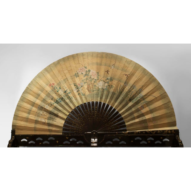 Asian Japanese Monumental Exhibition Quality Folding Fan For Sale - Image 11 of 11