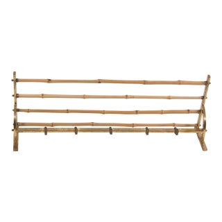 Bamboo and brass coat rack-French 1950's
