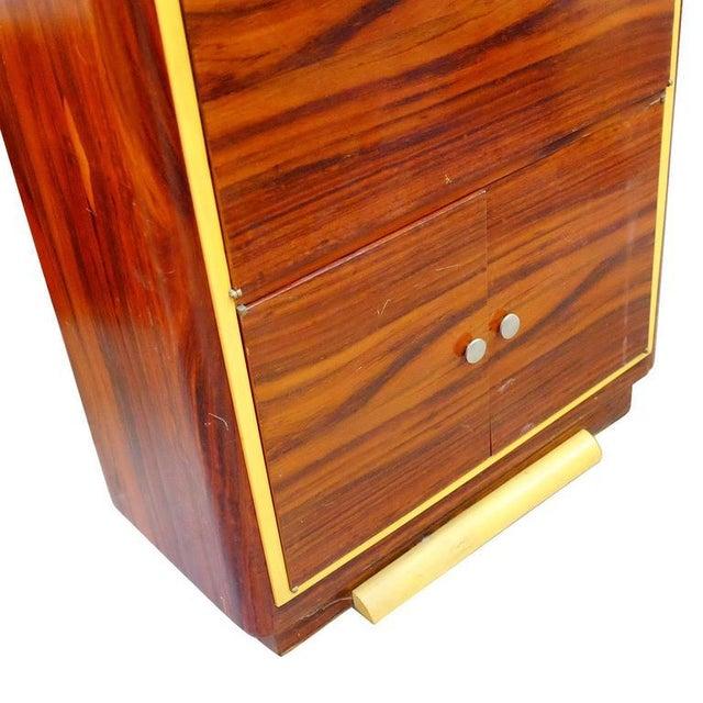High Style Art Deco Macassar Ebony Vitrine Cabinet & Secretary Desk - Image 5 of 7