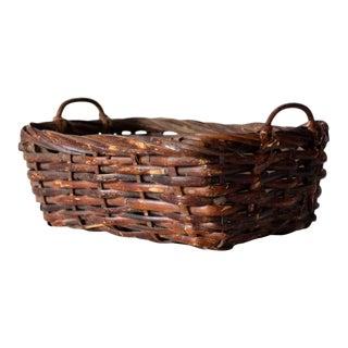 Vintage Woven Basket For Sale