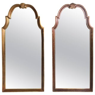 Vintage Pair of Gold Hollywood Regency Mirrors Attributed to La Barge For Sale