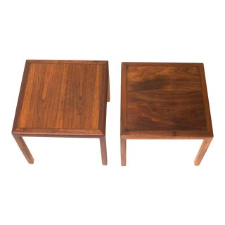 Mid-Century Modern Walnut Side Tables After Baker - a Pair For Sale