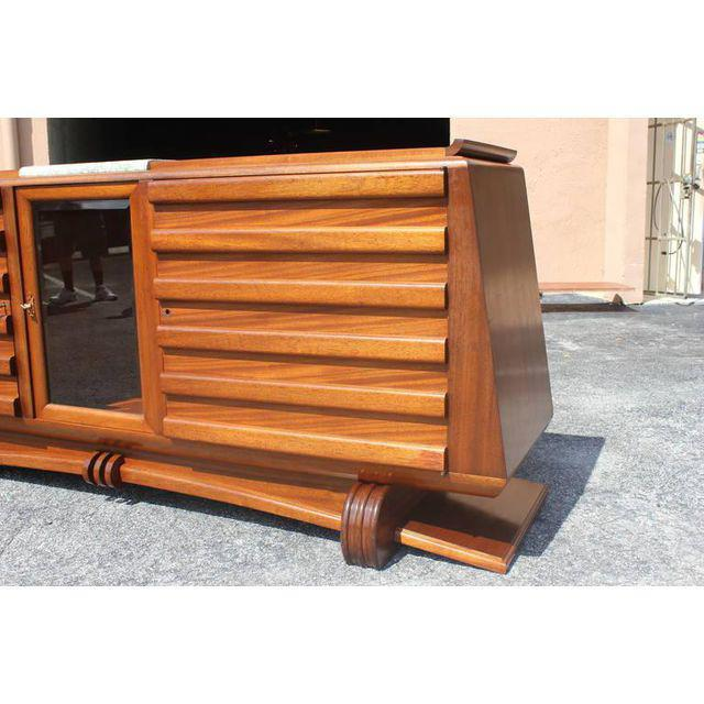 1940s 1940s Gaston Poisson French Art Deco Mahogany Sideboard / Buffet For Sale - Image 5 of 10