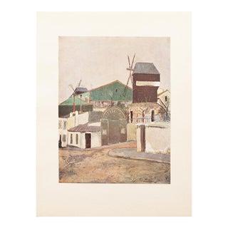 """1947 Maurice Utrillo, Original Period """"Les Moulins De La Galette"""" Lithograph For Sale"""
