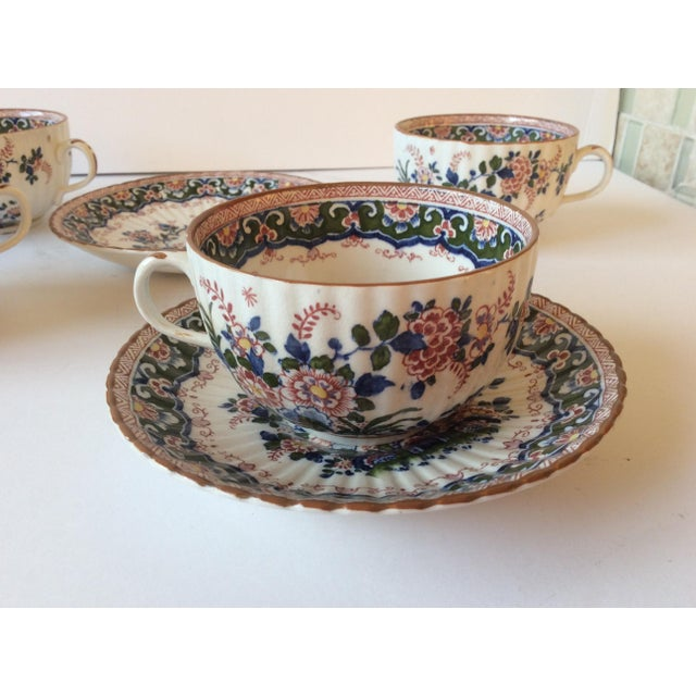 """Booths """"Old Dutch"""" Cup & Saucers - Set of 4 - Image 5 of 11"""