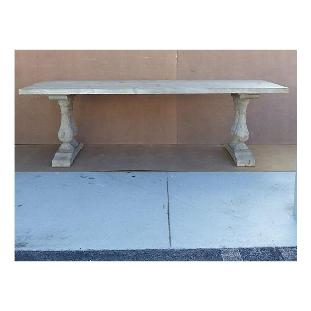 Neoclassical Library Table with Whitewash Finish - Image 10 of 10