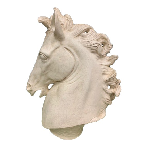 Global Views Horse Head Sculpture For Sale