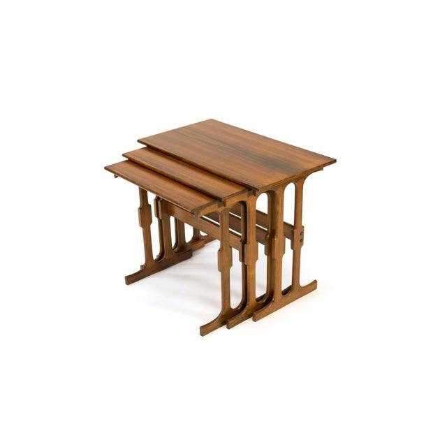 CFC Silkeborg Cfc Silkeborg Rosewood Nesting Tables From Denmark - Set of 3 For Sale - Image 4 of 10