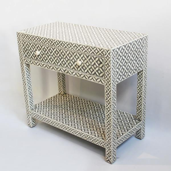 Grey Inlay Side Table - Image 2 of 3