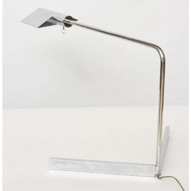Mid-Century Modern Early Cedric Hartman American Modern Polished Chrome Desk Lamp For Sale - Image 3 of 9