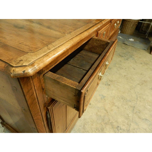 Early French Walnut 19th Century Directoire' Buffet For Sale - Image 9 of 11