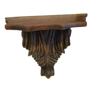 1800s Victorian Oak Wood Wall Hanging Stand