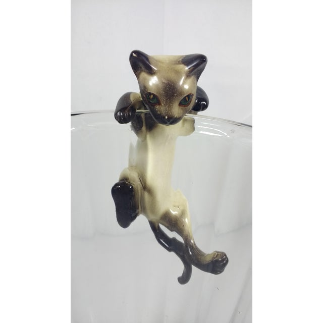 Vintage Hand-Painted Ceramic Hanging Siamese Cat - Image 4 of 7