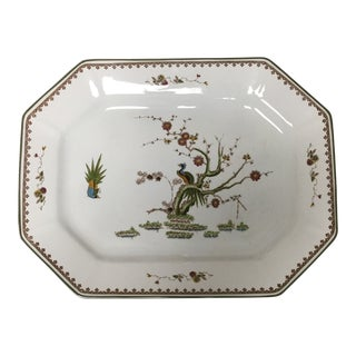 Wedgwood Old Chelsea White Floral and Bird Motif Octagonal Platter For Sale