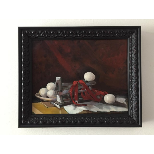 """2010s """"Measurement"""" Original Still Life Oil Painting by Marina Movshina For Sale - Image 5 of 5"""