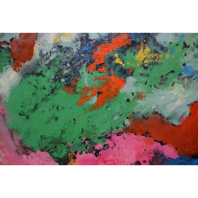 Canvas 21st C. Modernist Abstract Oil Painting by Manor Shadian (B.1931 Iran / California) For Sale - Image 7 of 12