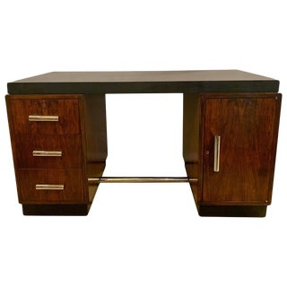 Gilbert Rohde Art Deco Ebony Top Mid-Century Modern Desk or Writing Table For Sale