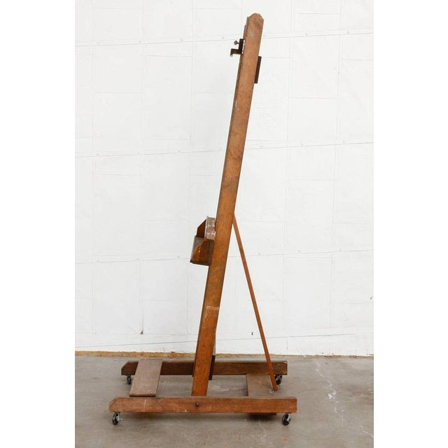 Brown Midcentury Wooden Adjustable Painters Art Studio Easel For Sale - Image 8 of 13
