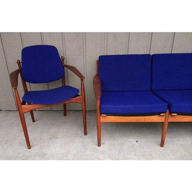 1950s Danish Modern Arne Vodder Arm Chair For Sale - Image 5 of 7