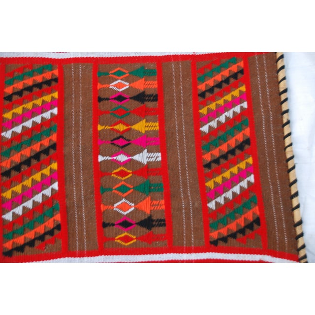Mid Century Modern Multicolored Tapesty - Image 4 of 7