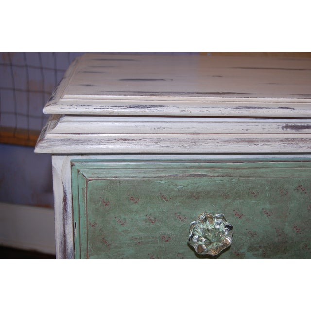 Vintage Shabby Chic Painted Green & White Dresser - Image 4 of 9