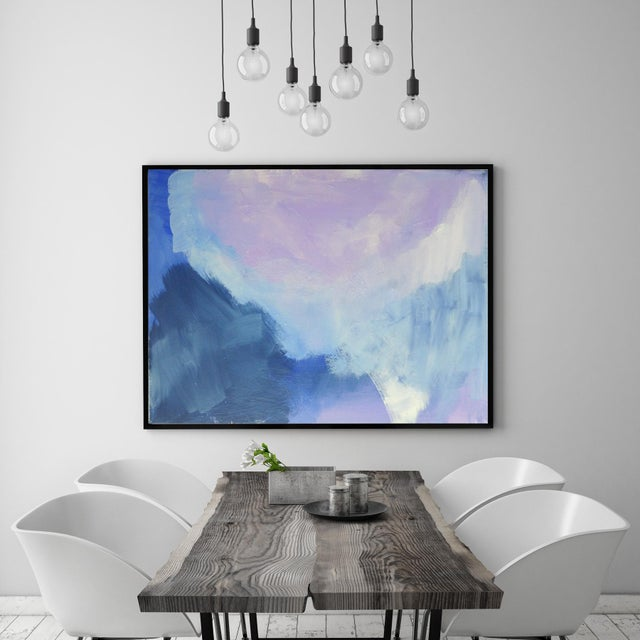Abstract Modern Lavender Bloom - 30 X 40 For Sale - Image 3 of 6