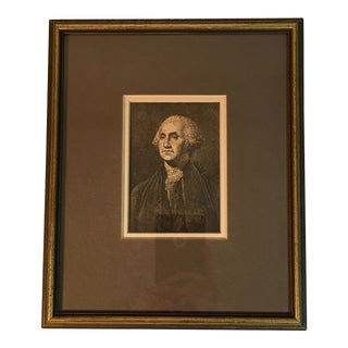 Antique Framed Print of George Washington