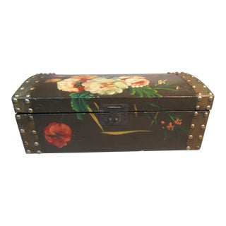 1920s Antique Chinese Lacquered Wood Box For Sale