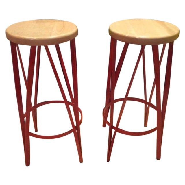 Reatoration Hardware Bar Stools - Pair For Sale