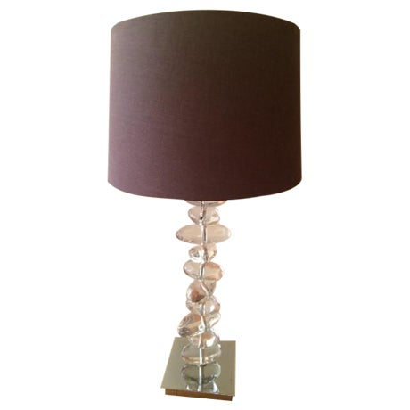 Interior Crafts Rock Glass Table Lamp - Image 1 of 3