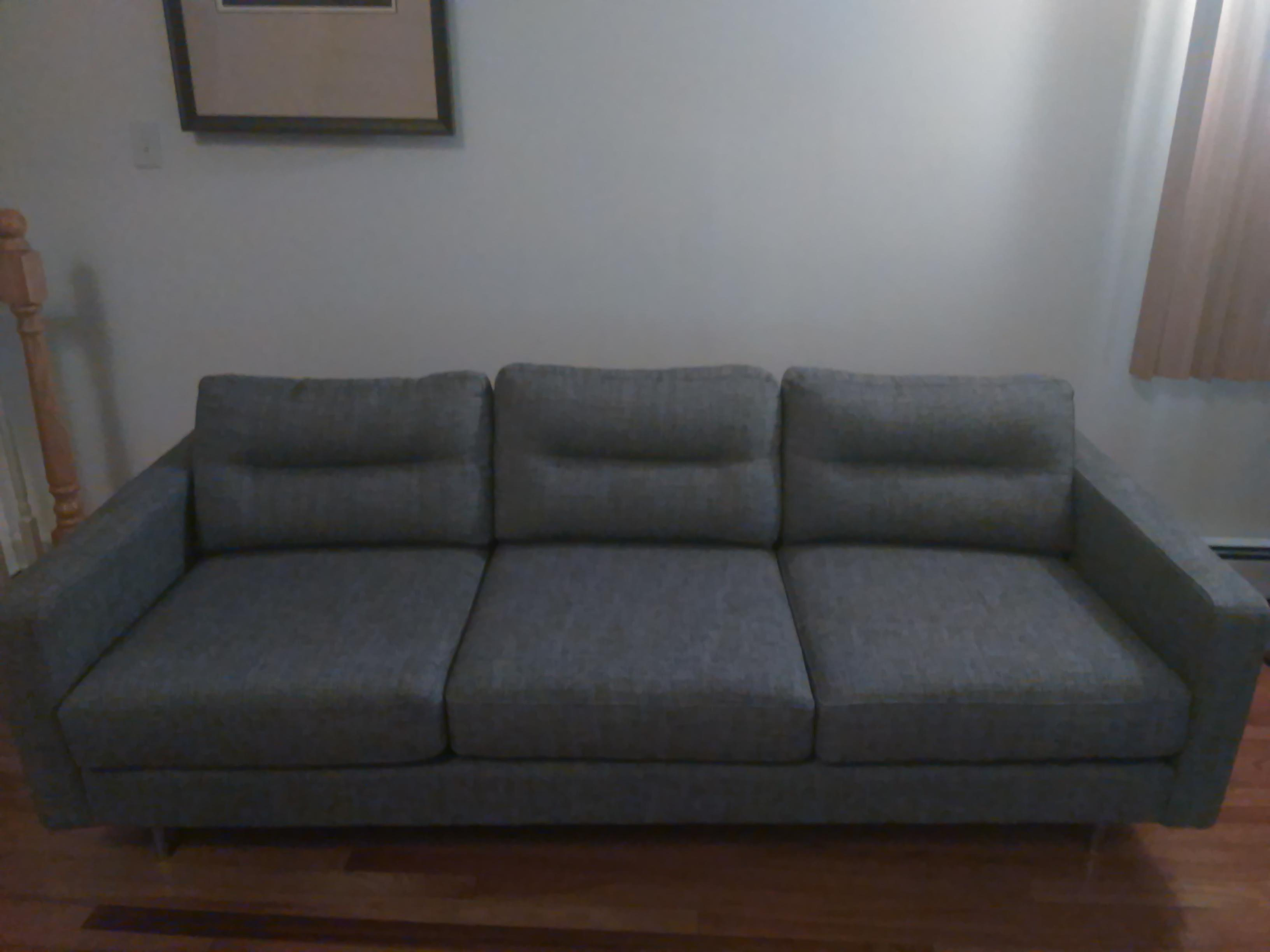 Great Modern Sofa With Clean Crisp Lines. A Little Over 1 Year Since  Purchase.