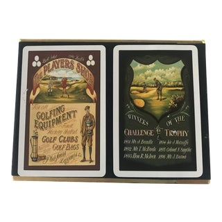 Vintage Golf Scene Motif Congress Playing Cards - Double Deck For Sale