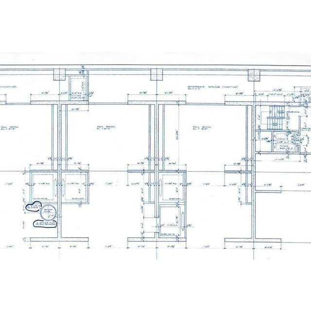 Mies Van Der Rohe Blueprint, One Illinois Center 111 E. Wacker Chicago, 1968 For Sale In Chicago - Image 6 of 13