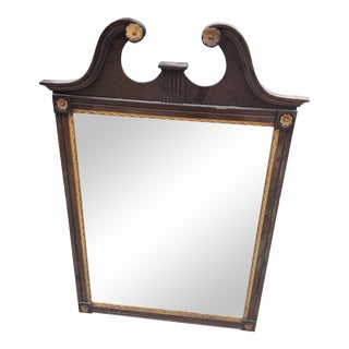 Neoclassical Wooden Mirror With Gilded Accents For Sale