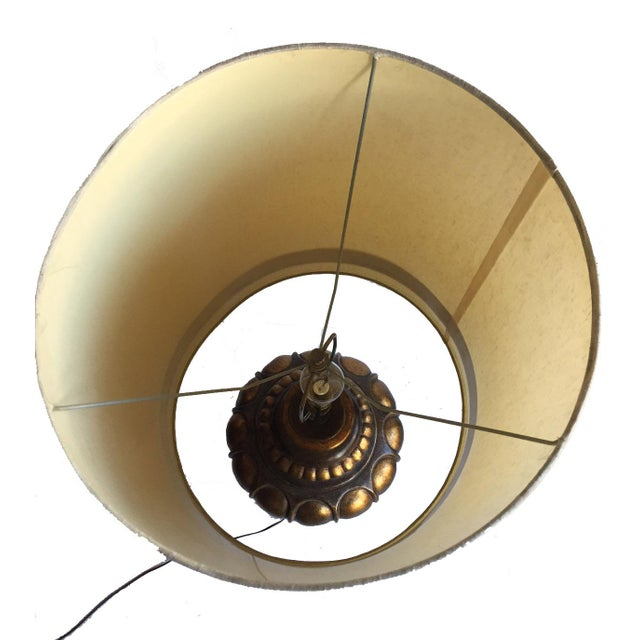 Vintage Table Lamp with Original Shade For Sale In Los Angeles - Image 6 of 6