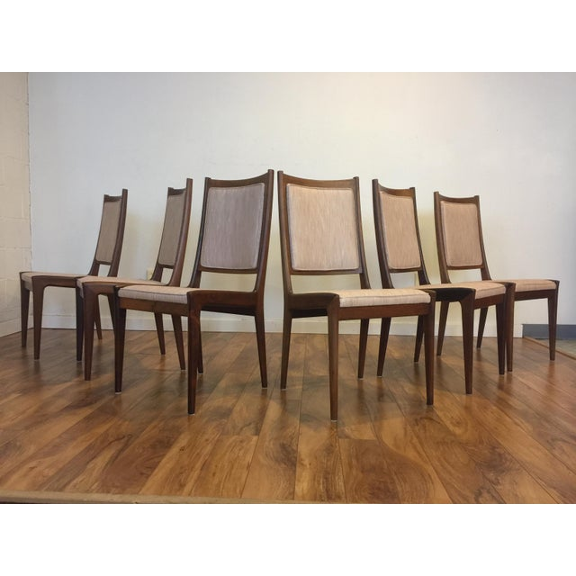 Karl Erik Ekselius for JOC Rosewood Dining Chairs- Set of 6 - Image 2 of 7