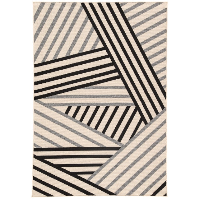 Jaipur Living Begley Indoor/ Outdoor Geometric Black/ Gray Area Rug - 2′ × 3′7″ For Sale In Atlanta - Image 6 of 6