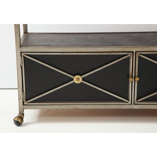 Brass and Steel Console For Sale - Image 9 of 13