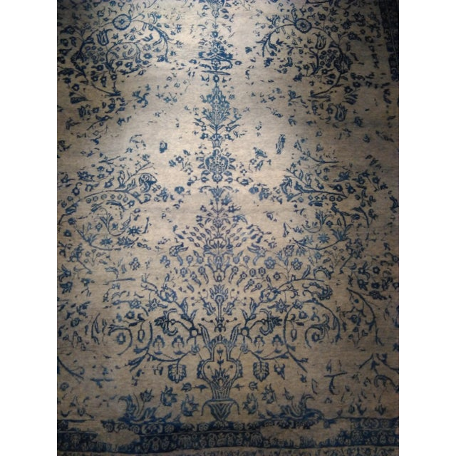 "Contemporary Erased Hand-Knotted Luxury Rug - 8'11"" x 11'11"" For Sale - Image 3 of 7"