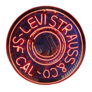 Levi Strauss & Co. Neon Sign For Sale