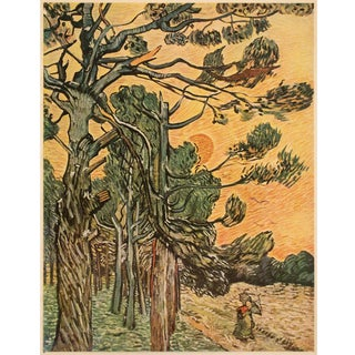 "1947 Van Gogh ""Forest at Sunset"", First Edition Parisian Lithograph For Sale"