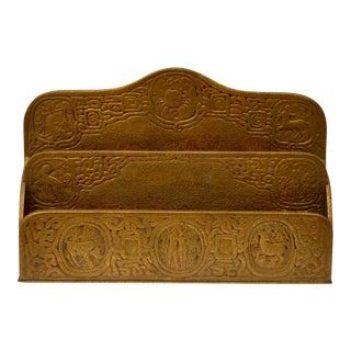 Tiffany Studio Zodiac Series Gilt Bronze Letter Holder For Sale