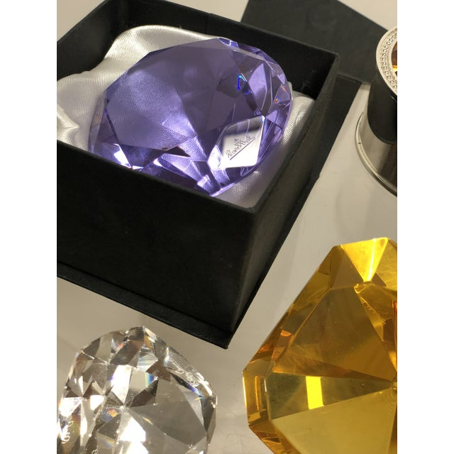 Gold Collection of Crystal Gemstone Paperweights & Boxes - Set of 6 For Sale - Image 8 of 9
