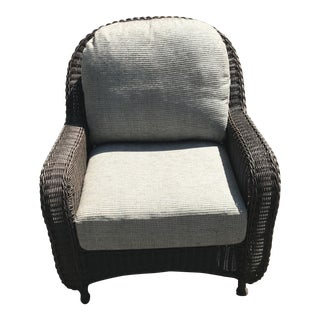 Modern Summer Classics Wicker Lounge Chair For Sale