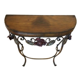 Vintage Demilune Console Table