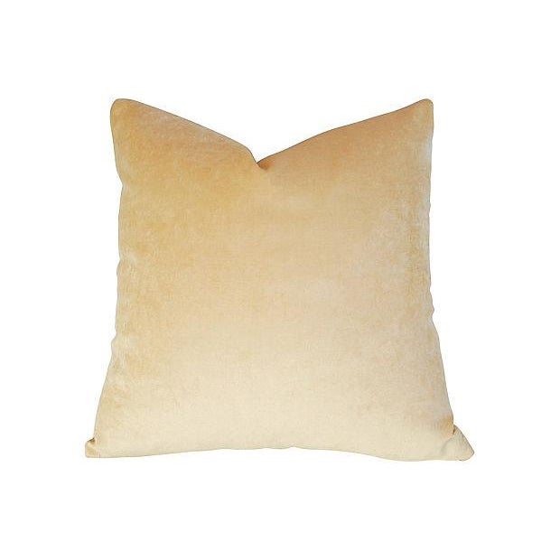 Custom-tailored pillow in vintage/never used golden brown Italian Spinneybeck pebble grain leather. The premium leather...