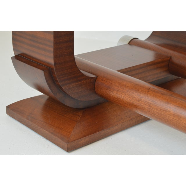 Fabulous Gaston Poisson Art Deco Dining Room Table in Mahogany, 1930. For Sale - Image 10 of 11