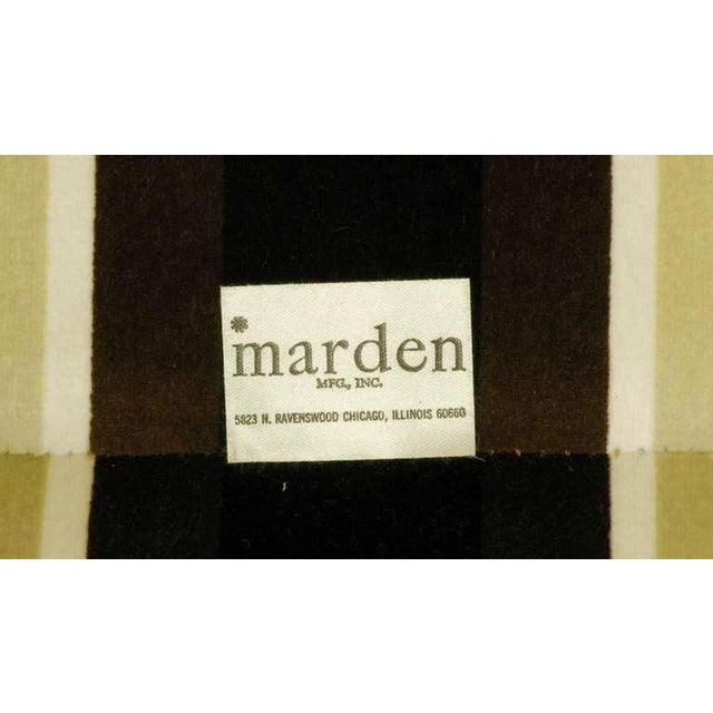 White Marden Even-Arm Striped Velvet Tuxedo Sofa For Sale - Image 8 of 8