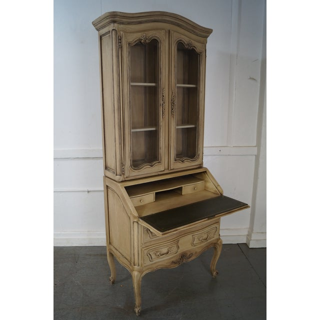 French Louis XV Style Painted Secretary Desk - Image 2 of 10